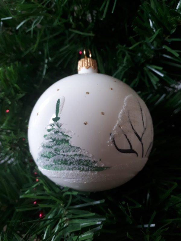 Glass Christmas Tree Bauble - White - 20200924 091134
