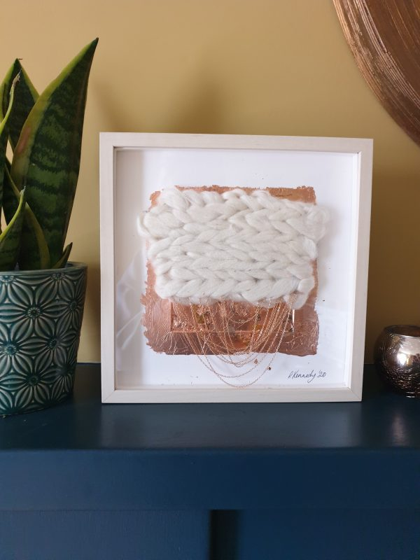 Neutral Framed Weave 3