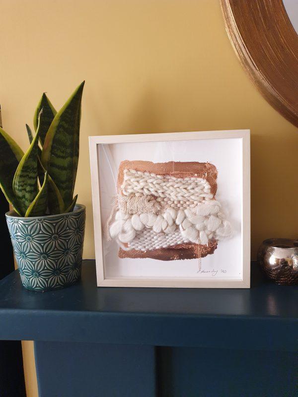 Neutral Framed Weave 4