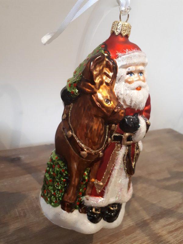 Santa with Reindeer Handmade Christmas Tree Decoration - 20201207 100436