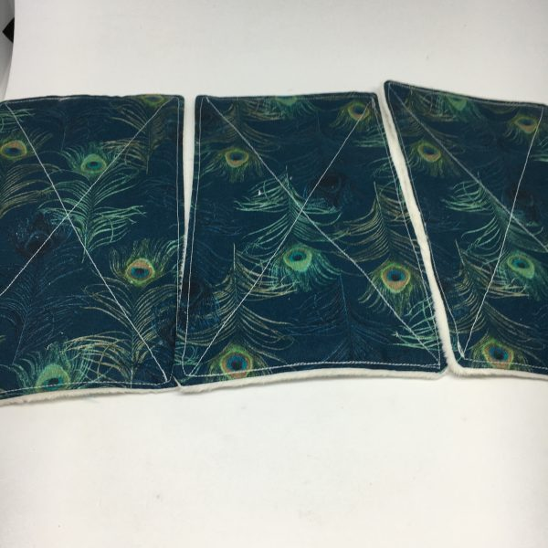 Reusable Wipes Large peacock - 4C4C363F B361 4CA2 A69B 29D57240F9DC rotated