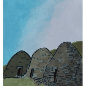 Beehive Huts Sceilig Michael Art Print