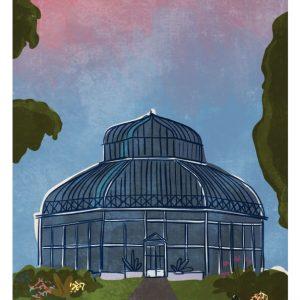 The Botanic Gardens Dublin Art Print