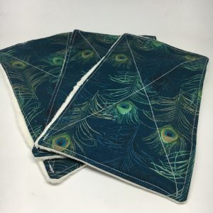 Reusable Wipes Large Peacock