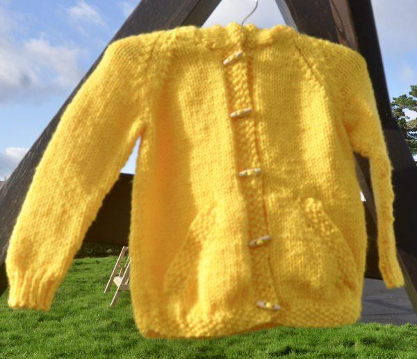 Good Morning Sunshine, Knitted Hooded Jacket - DSC 0870 scaled