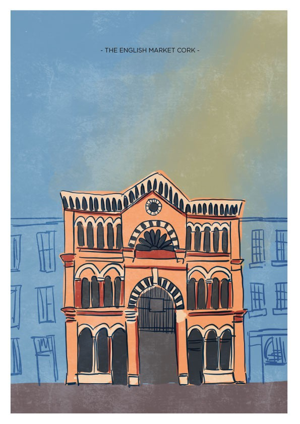 English Market Cork Art Print