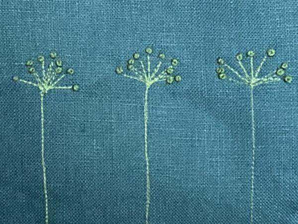 Blue Zipped Linen Pouch (Mint Green) - IMG 1190