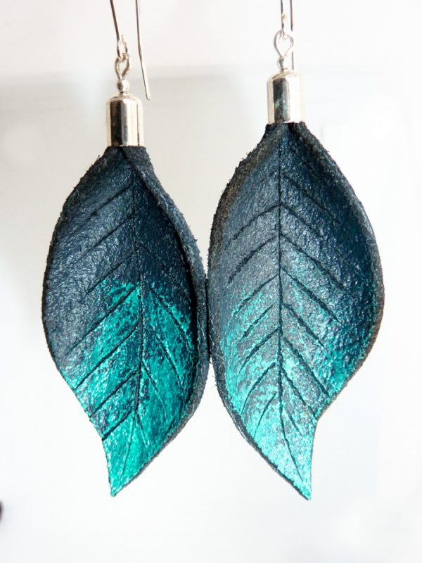 Hand Painted Leather Earrings III - Leather Earrings Handmade Hand Painted by Ertisun 14 600x800 1