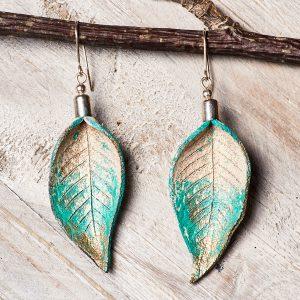 Handmade Jewellery - Leaves Leather Set Jewellery Handmade by Ertisun Ireland 40
