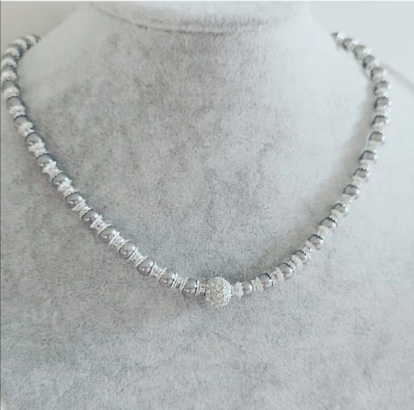 Grey Jewelled Necklace