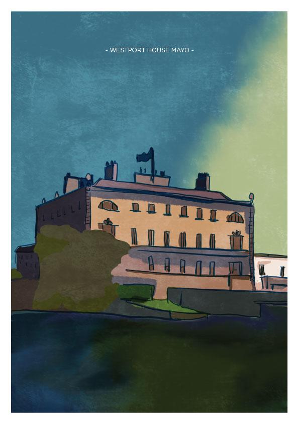 Westport House Mayo Art Print