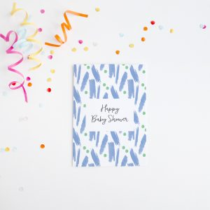 Happy Baby Shower Blue Paint Card