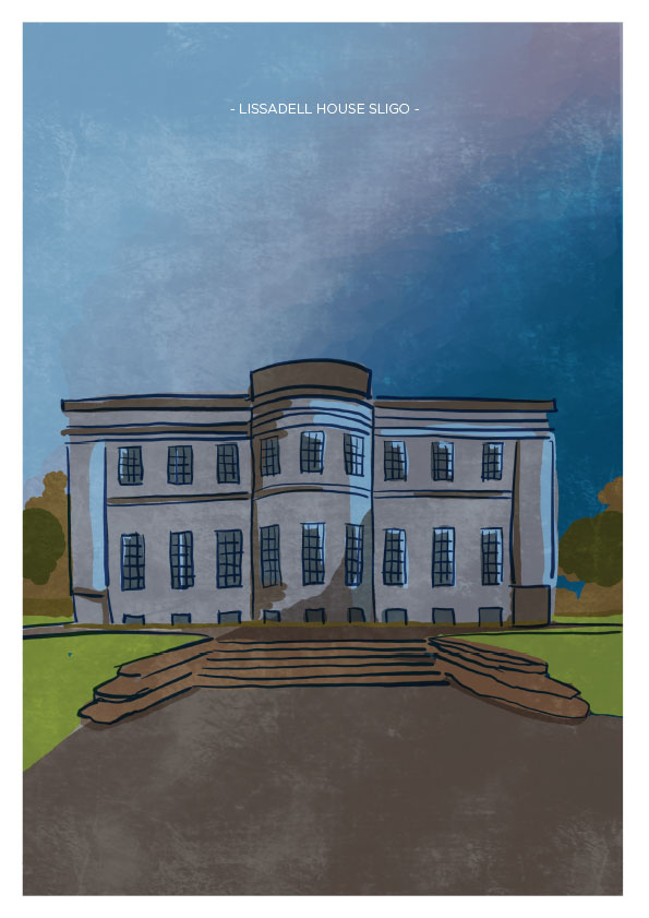 Lissadel House Sligo Art Print