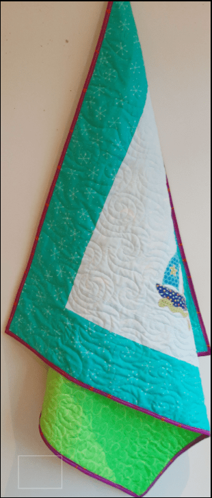 Fun Colourful Baby Quilt - paper piece1