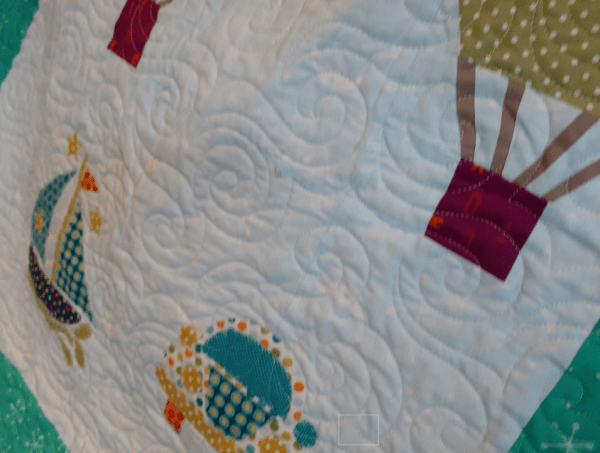Fun Colourful Baby Quilt - paper piece4