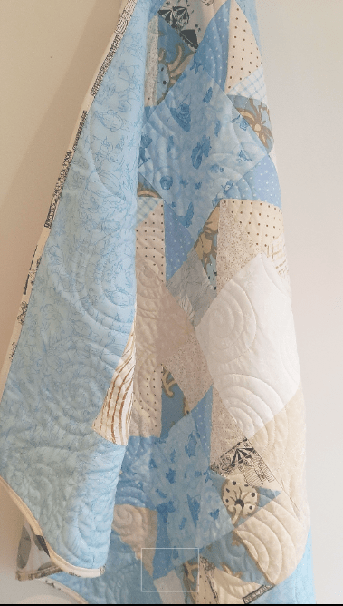 Quilted Stars Block Baby Quilt