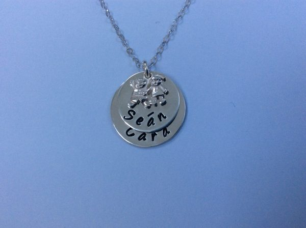 Silver Mum of Two Necklace with Boy and Girl Charm - 02607ACD 230F 4CAE 91F8 FE42D7AC6AA2