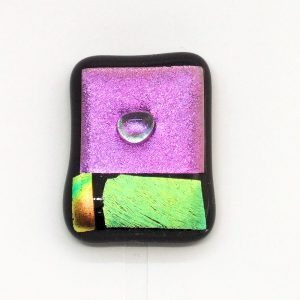 Fused-Glass Jewellery Abstract Brooch - 107