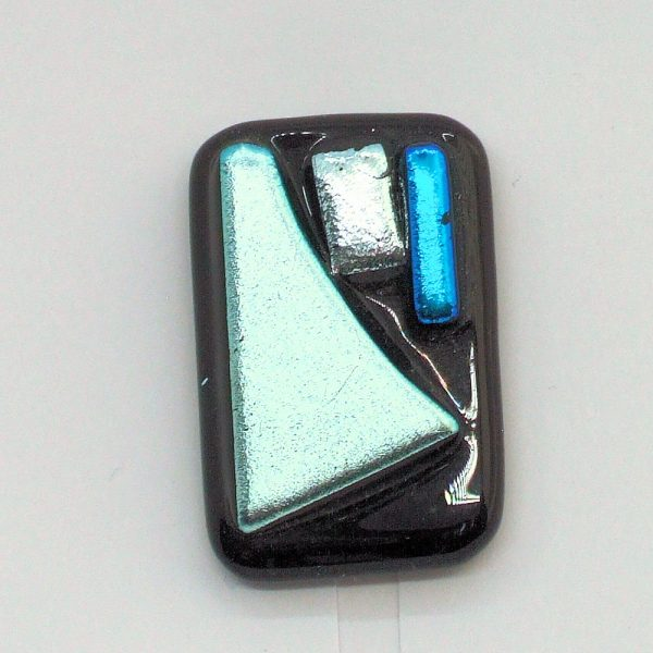 Fused-Glass Jewellery Abstract Brooch - 109