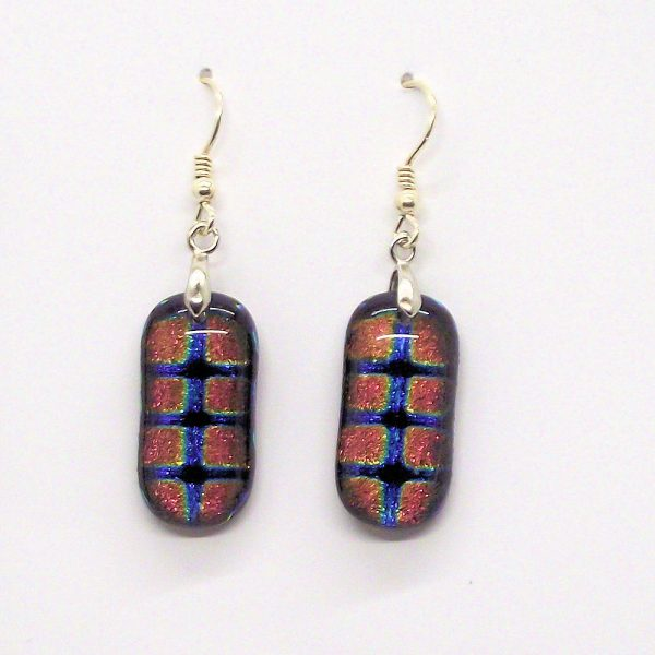 Fused-Glass Drop Earrings - 114 - 114a 1