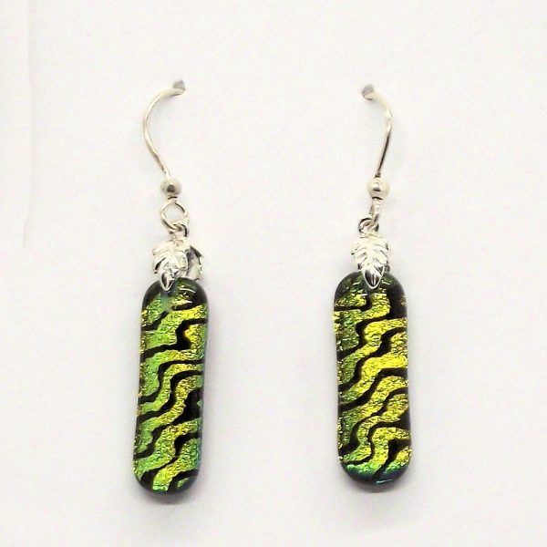 Fused-Glass Drop Earrings - 117 - 117a 1