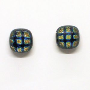 Fused-Glass Jewellery Stud Earrings - 124a