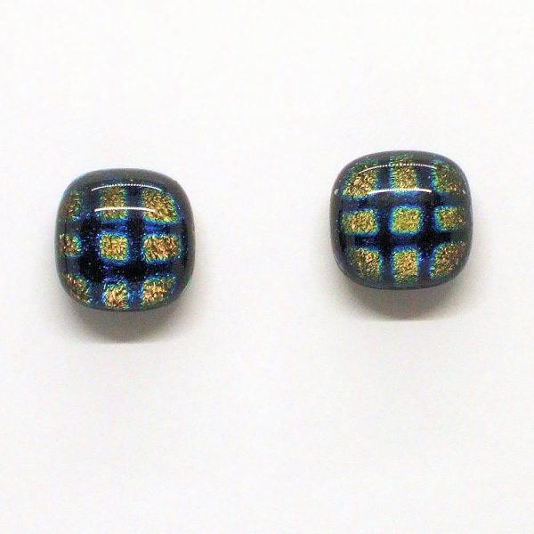 Fused-Glass Jewellery Stud Earrings - 124a