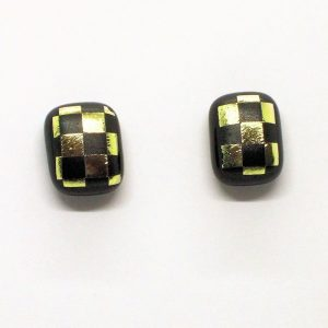 Fused-Glass Jewellery Stud Earrings - 123a