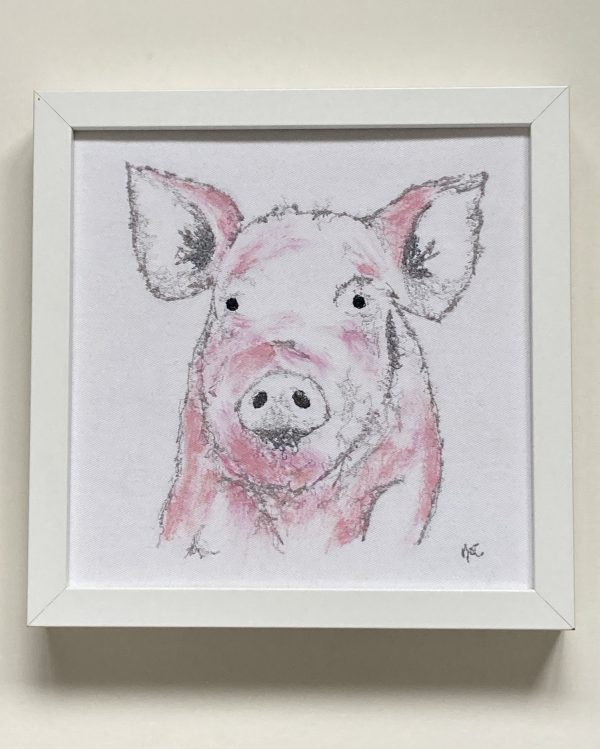 Embroidered and Painted Pig Frame 1 - 147CE117 0296 4492 8E1A 611F35DE4CB7 1 201 a