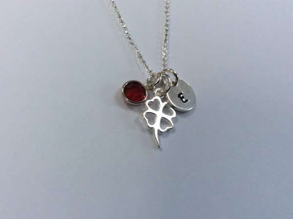 Good Luck Four Leaf Clover Shamrock Personalised Necklace - 16269337 2E96 4B1E B489 A9AA7B931C8A