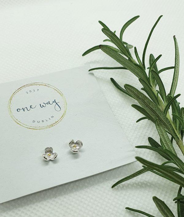 Bloom Flower 925 Silver Stud Earrings - 20210102 153233