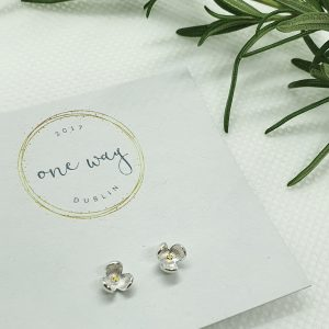 Bloom Flower 925 Silver Stud Earrings