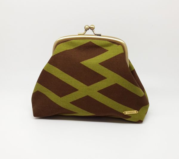 Brown Abstract Clutch Bag - 20210112 165148