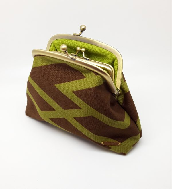 Brown Abstract Clutch Bag