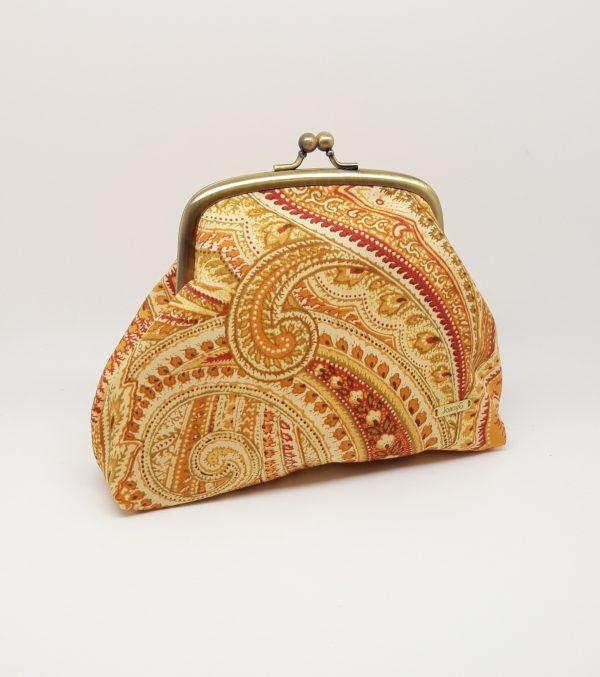 Gold Paisley Clutch Bag - 20210113 194615