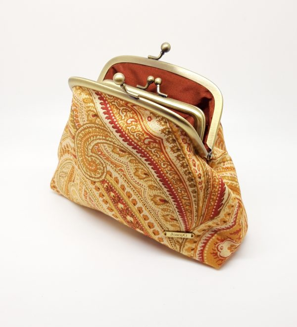 Gold Paisley Clutch Bag