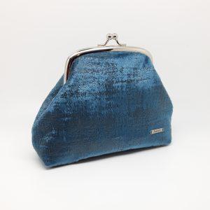 Blue Velvet Clutch Bag