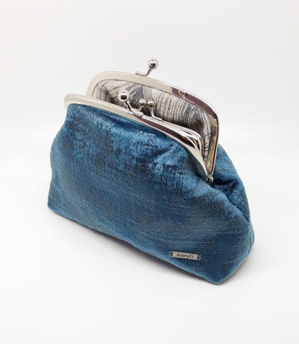 Blue Velvet Clutch Bag - 20210120 185655