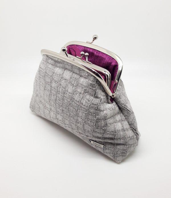 Faux Snake Skin Clutch Bag
