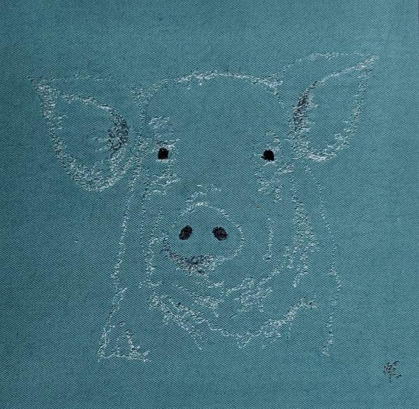 Embroidered Pig Wall Art - 24F4B8A8 B820 4F14 9A5B 8FD911B6FE03 1 201 a