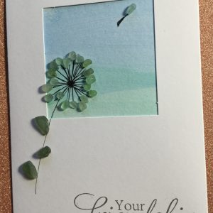 Seaglass and Watercolour Friendship Card