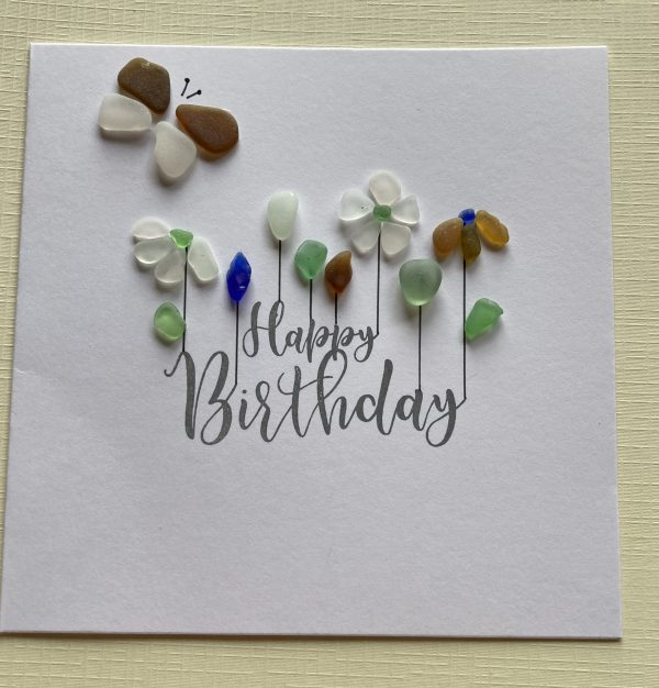 Happy Birthday Seaglass Card - 2FCA8F02 6E59 4071 AFB0 C729A55D148E