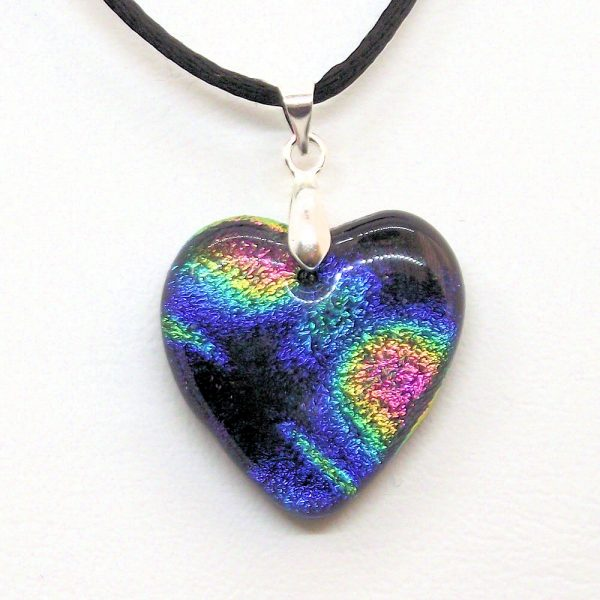 Fused-Glass Heart Pendant (302) - 302 1