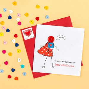 Super Boy Valentine's Card
