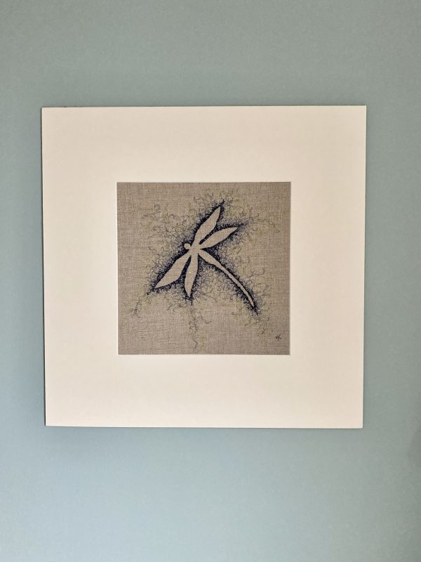 Embroidered Dragonfly Wall Art