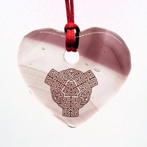 Fused-Glass Heart Suncatcher - 508