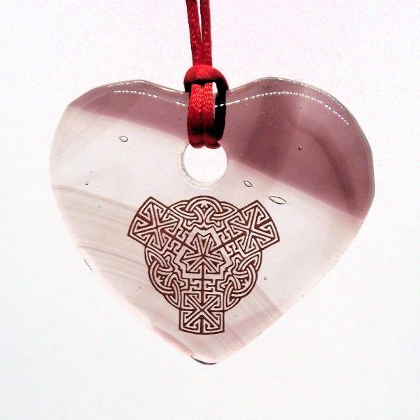 Fused-Glass Heart Suncatcher - 508