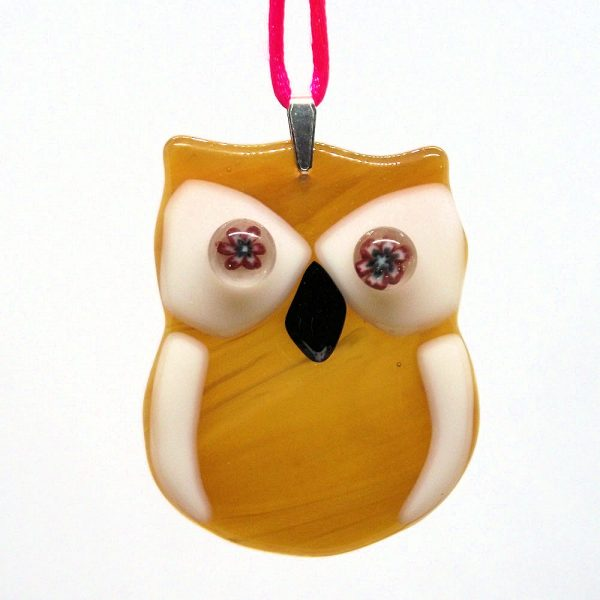 Fused-Glass Baby Owl Suncatcher - 510 - 510 1