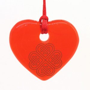 Fused-Glass Heart Suncatcher - 514