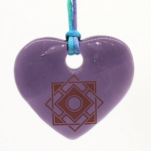 Fused-Glass Heart Suncatcher - 521